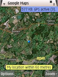 Google Maps 1.70 versión nativa para Symbian S60