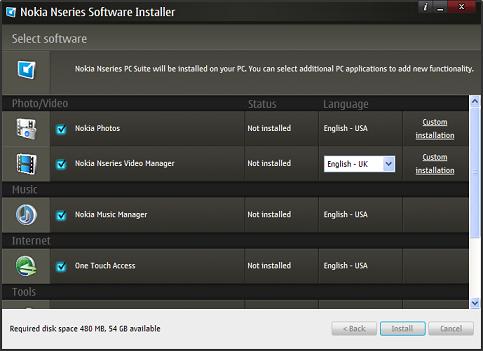Nokia pc suite 2.0 para Nseries Beta