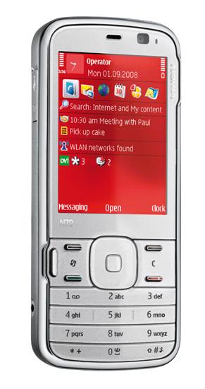 Nokia n79 con fondo rojo