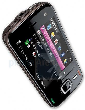 Nokia N85 diagonal