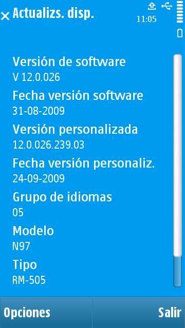 Firmware N97
