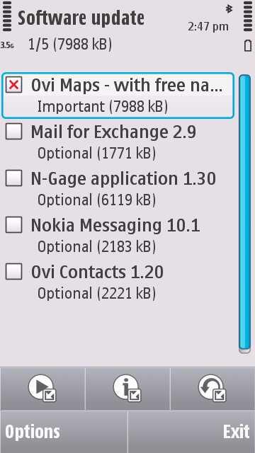 Actualizacion de software Nokia N97