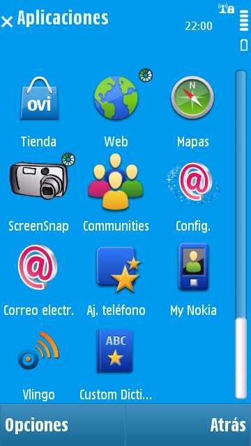 Custom Dictionary en un Nokia N97_1