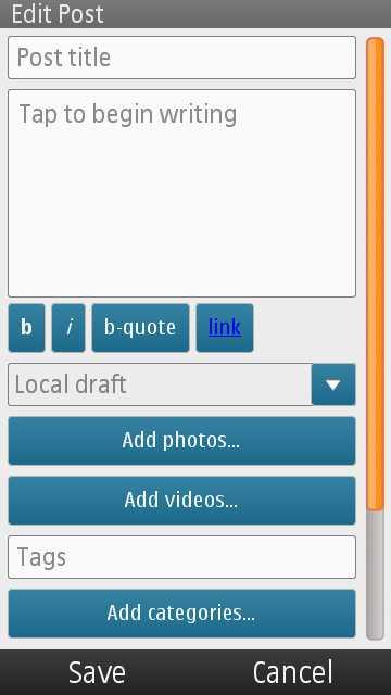 Wordpress para Nokia 4